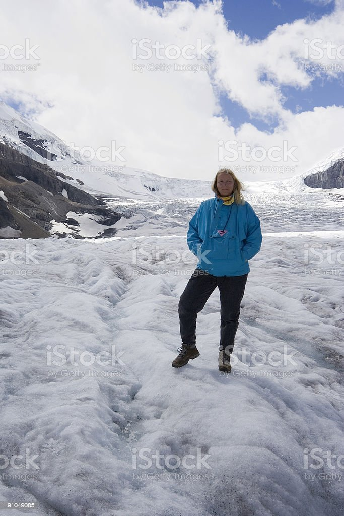 mature woman in the rockies royalty-free stock photo