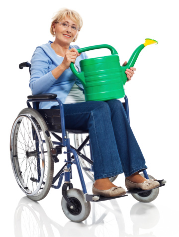Mature Woman In Wheelchair Stock Photo - Download Image Now