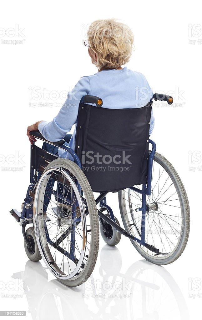 Ältere Frau im Rollstuhl – Foto
