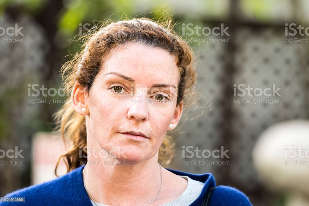 Mature woman stock photo