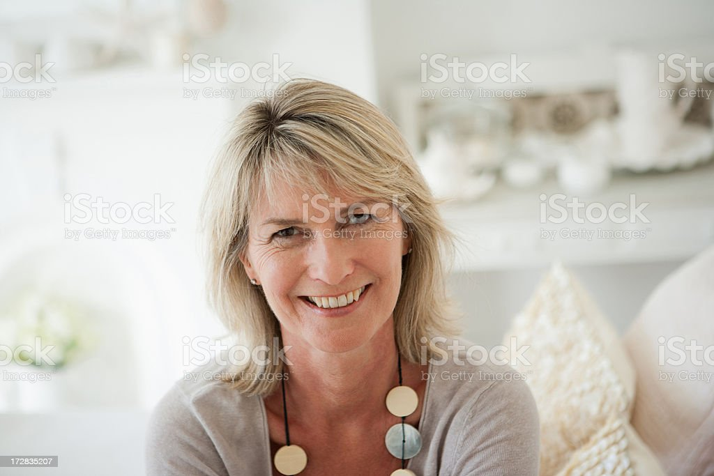Mature woman, portrait stock photo