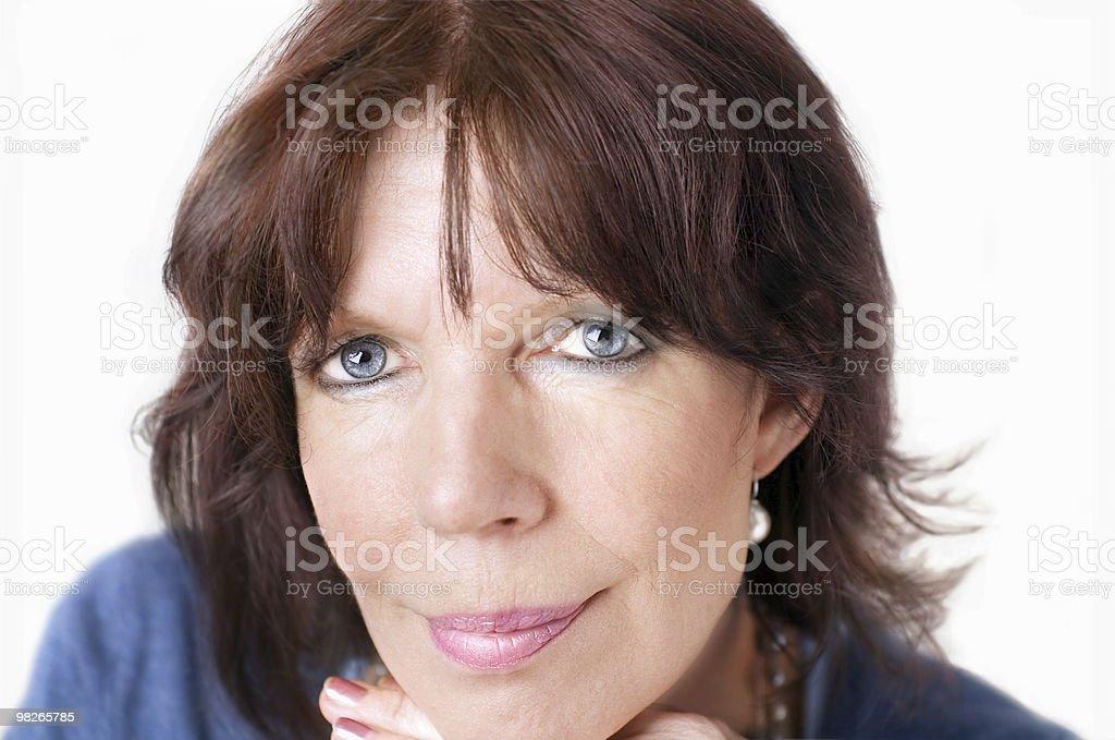 Mature woman portrait royalty-free stock photo