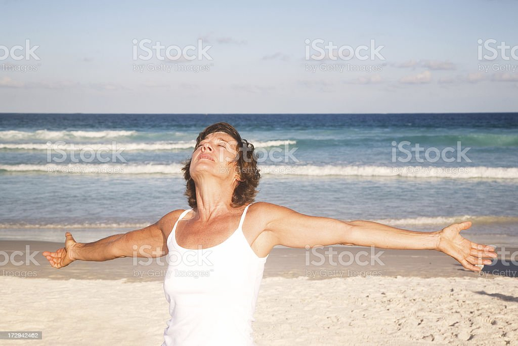 Mature Woman Relaxing royalty-free stock photo