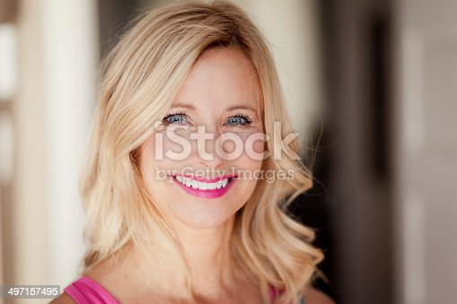 istock Mature woman smiling 497157495