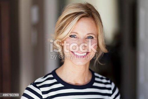 istock Mature woman smiling 499760269