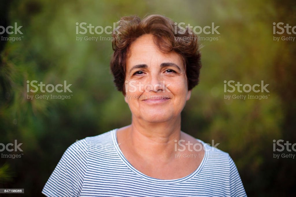 Mature Woman Smiling - foto stock