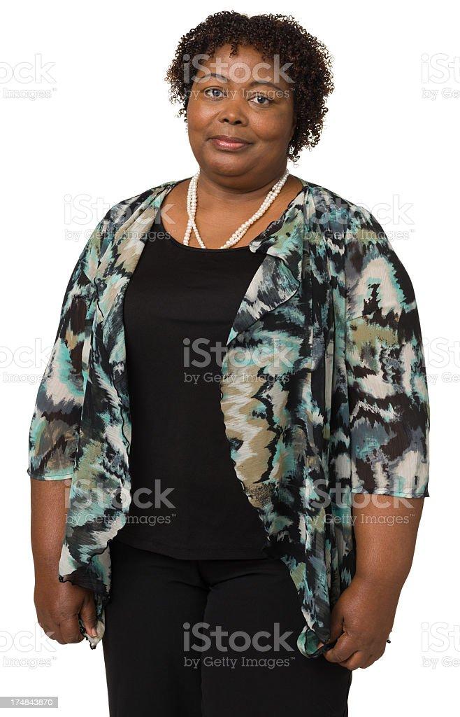 Mature Woman Standing Portrait stock photo