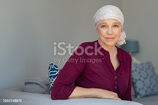 istock Mature woman suffering from cancer 1044148970