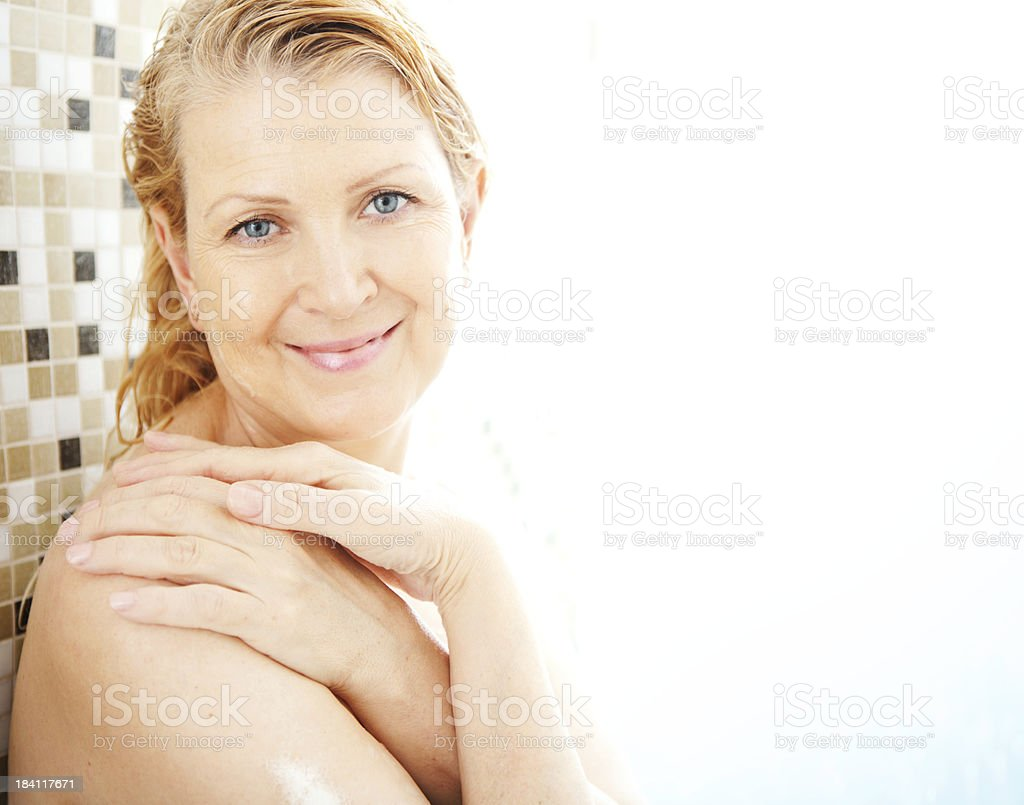 Mature Woman Taking Shower Stock Photo  More Pictures Of -8656