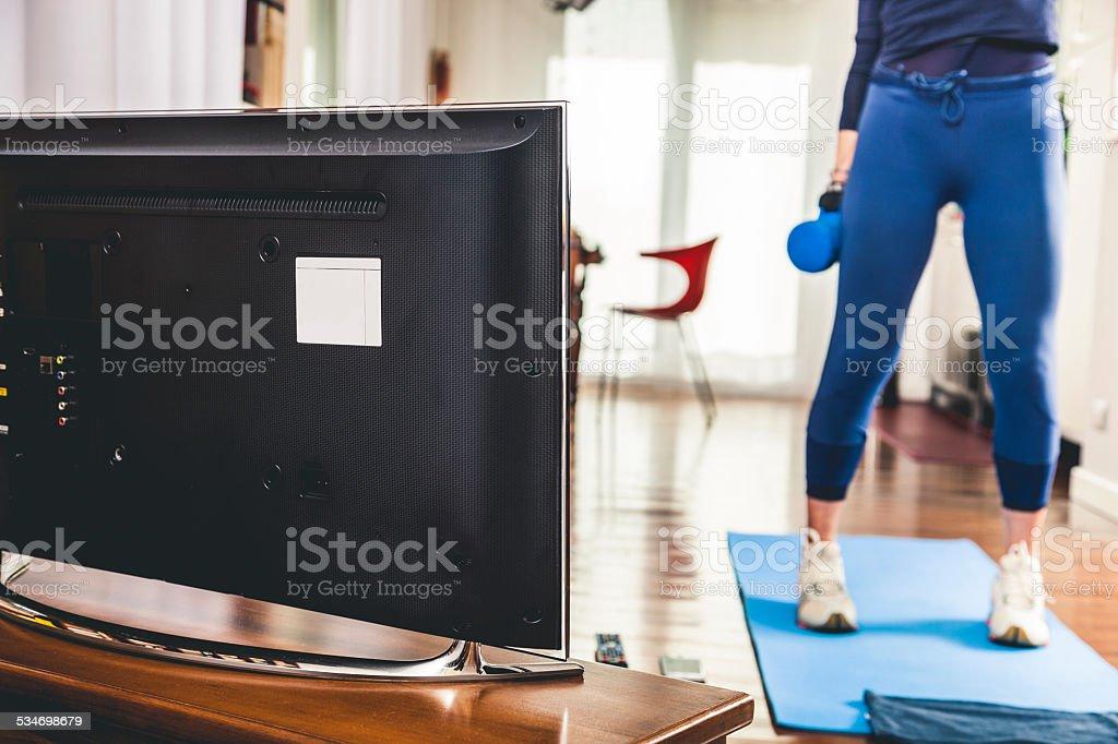 Ältere Frau training wie zu Hause fühlen. Lizenzfreies stock-foto