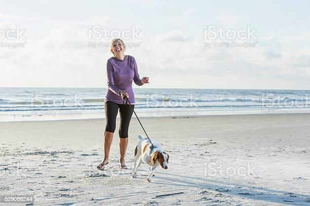 Mature woman walking dog on beach picture id529066244?b=1&k=6&m=529066244&s=612x612&h=3fflpcbl79jmeskfae pzx16y7i331brm 3eqe29k u=