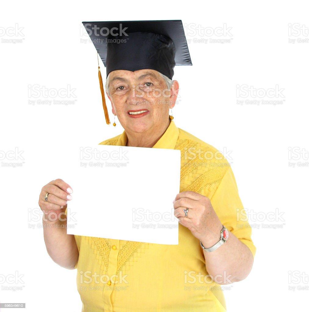 Mature Woman Wearing Cap royalty-free stock photo