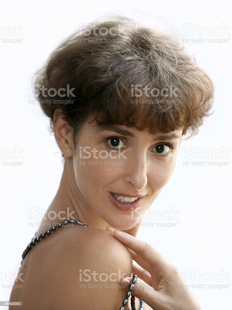 Mature woman with a necklace - Royalty-free Adult Stock Photo