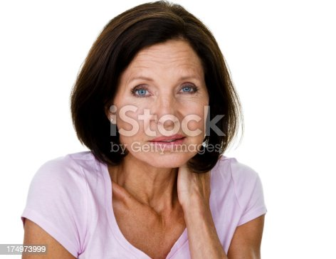 istock Mature woman with aches and pains 174973999