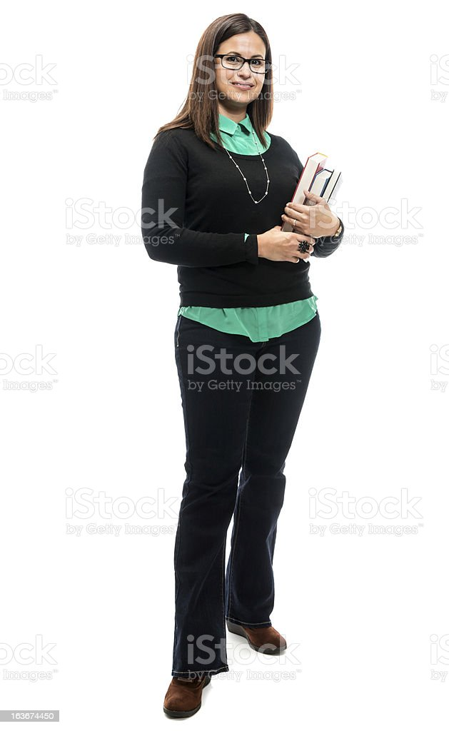 Mature woman with books royalty-free stock photo