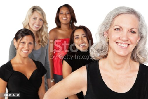 536775759istockphoto Mature Woman With Diverse Group of Women 183356910