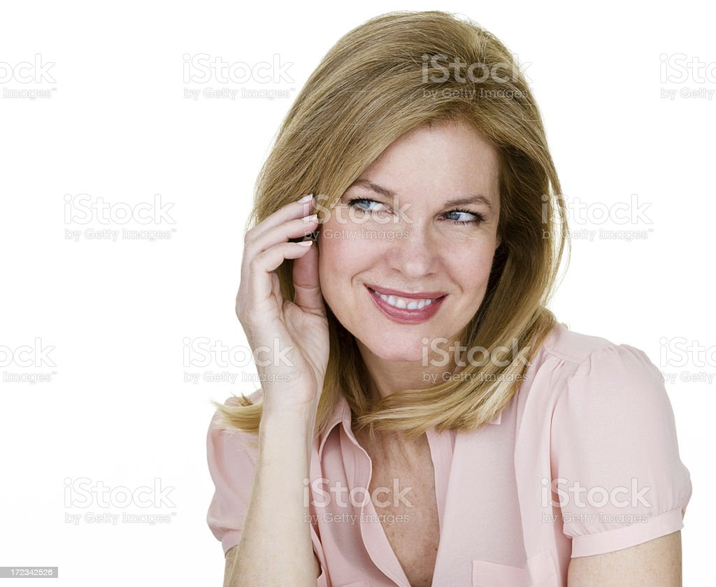 Mature woman with flirty expression royalty-free stock photo