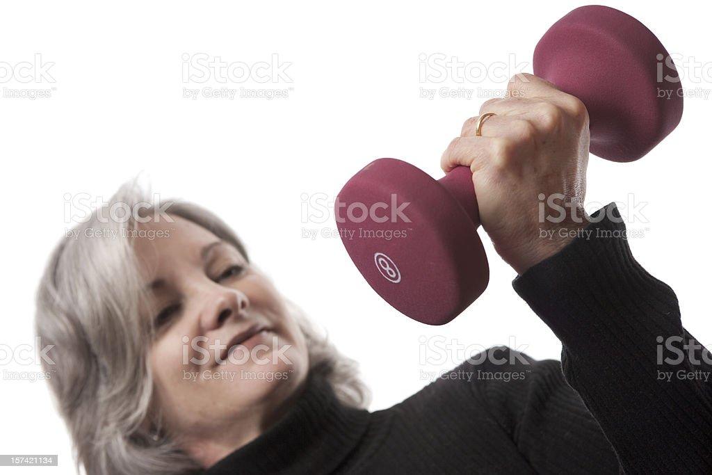 Mature Woman Workout Series (XXL) royalty-free stock photo