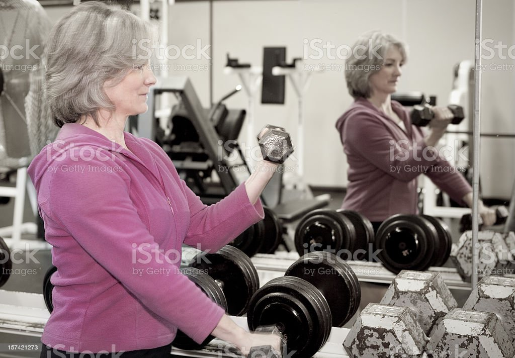 Mature Woman Workout Series royalty-free stock photo