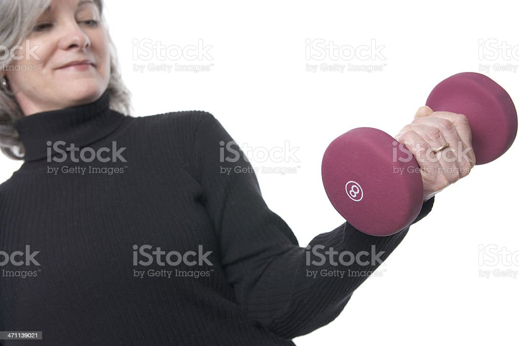 Mature Woman Workout Series (XXL) royalty-free stock photo