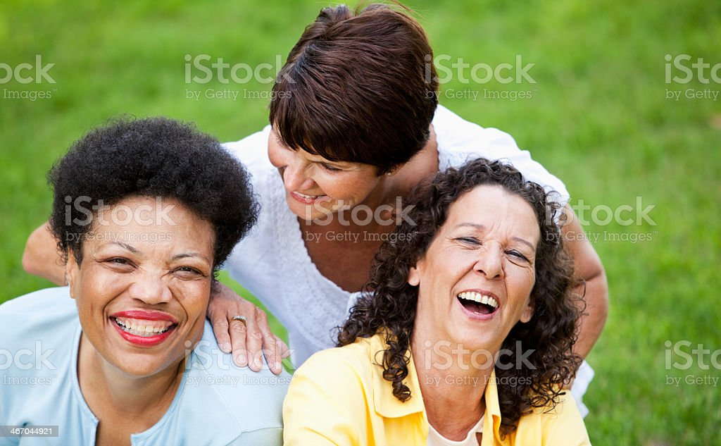 Mature women laughing stock photo