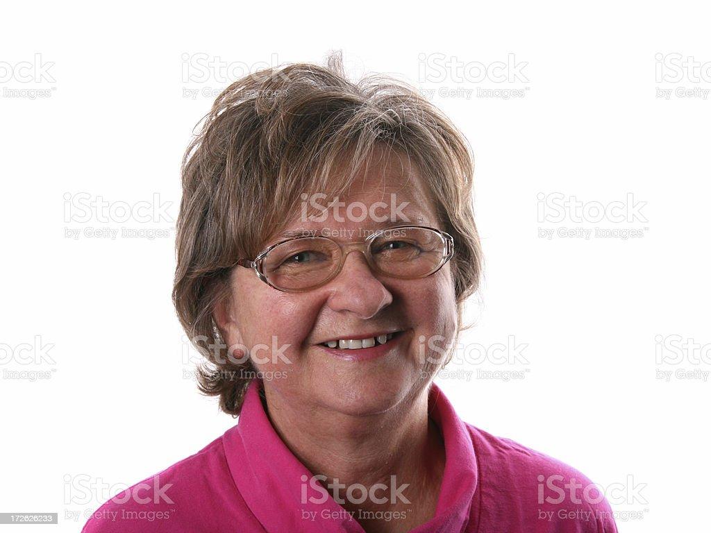 Mature women smiling royalty-free stock photo