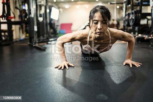 Japanese women making strong body
