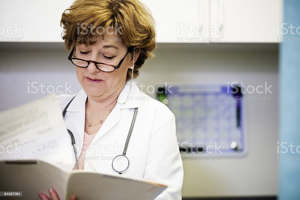 Matured Female Doctor royalty-free stock photo