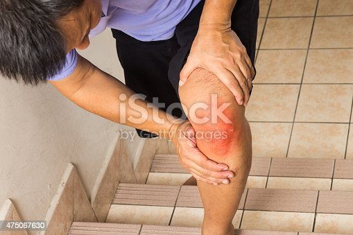 181879982istockphoto Matured man suffering acute knee joint pain climbing steps 475067630