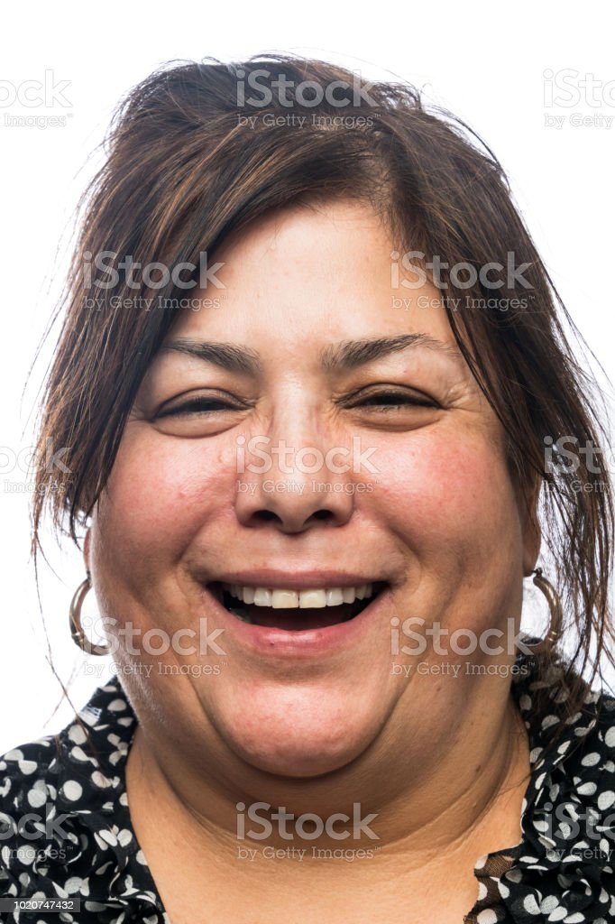 Mature/senior woman laughing stock photo