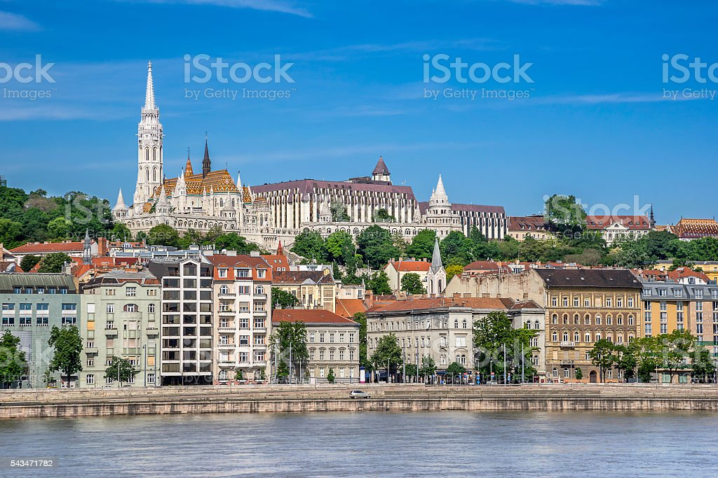 Matyas Church and National Gallery stock photo
