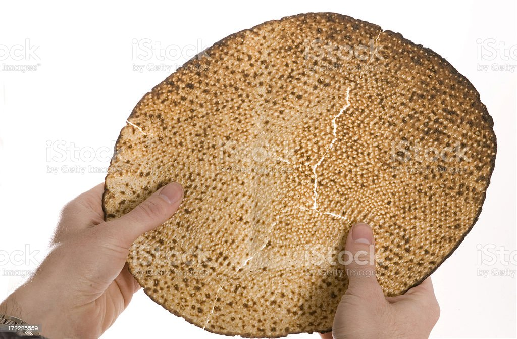 Matza at the seder royalty-free stock photo