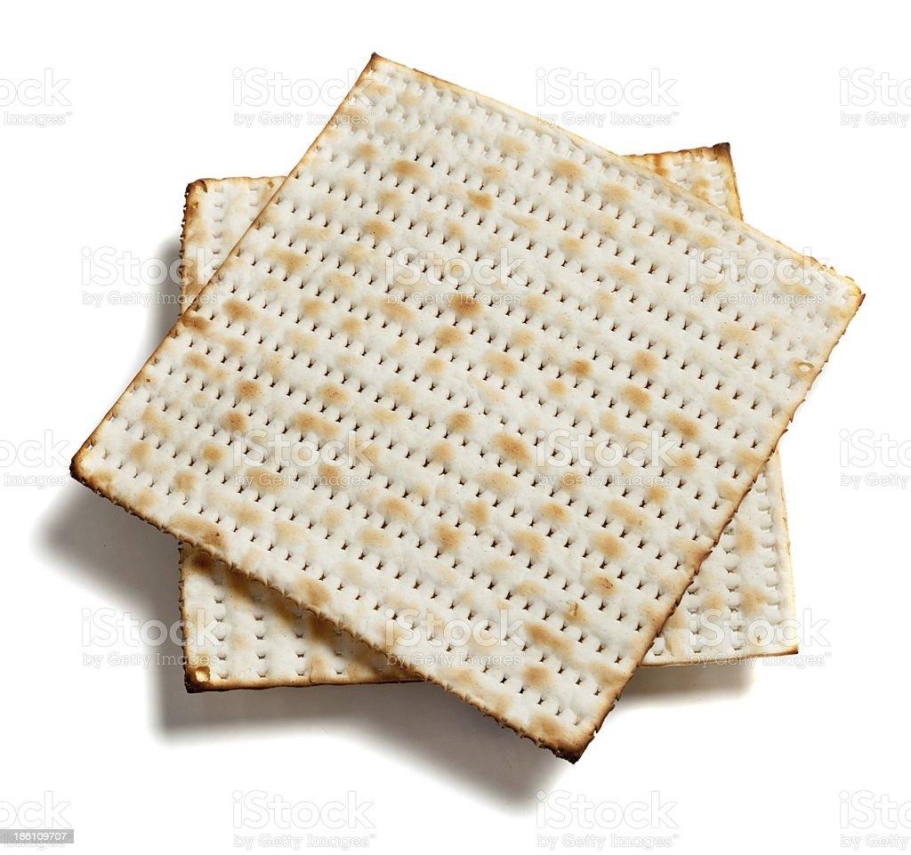 matza bread on white royalty-free stock photo