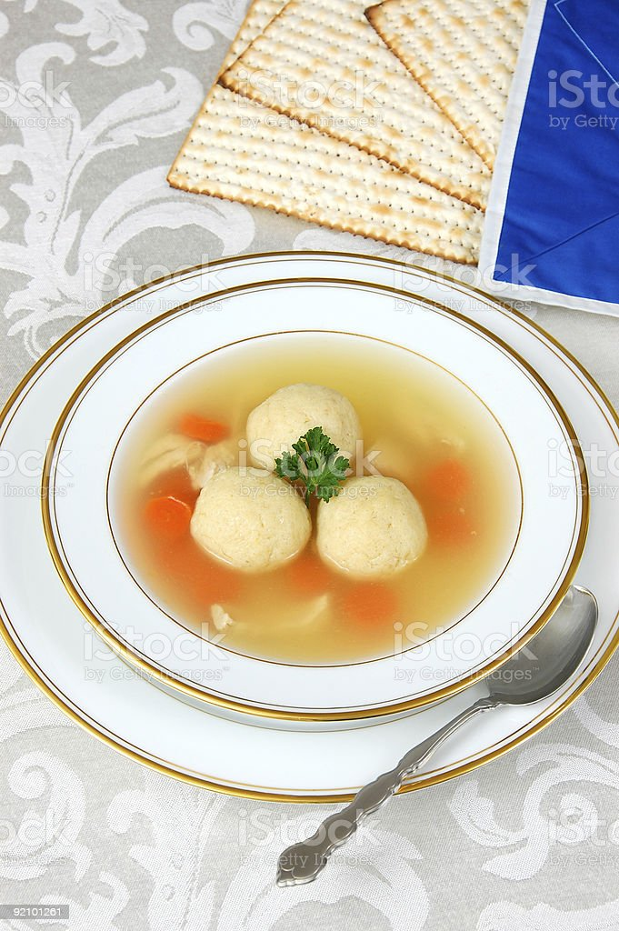 Matzah Ball Soup royalty-free stock photo