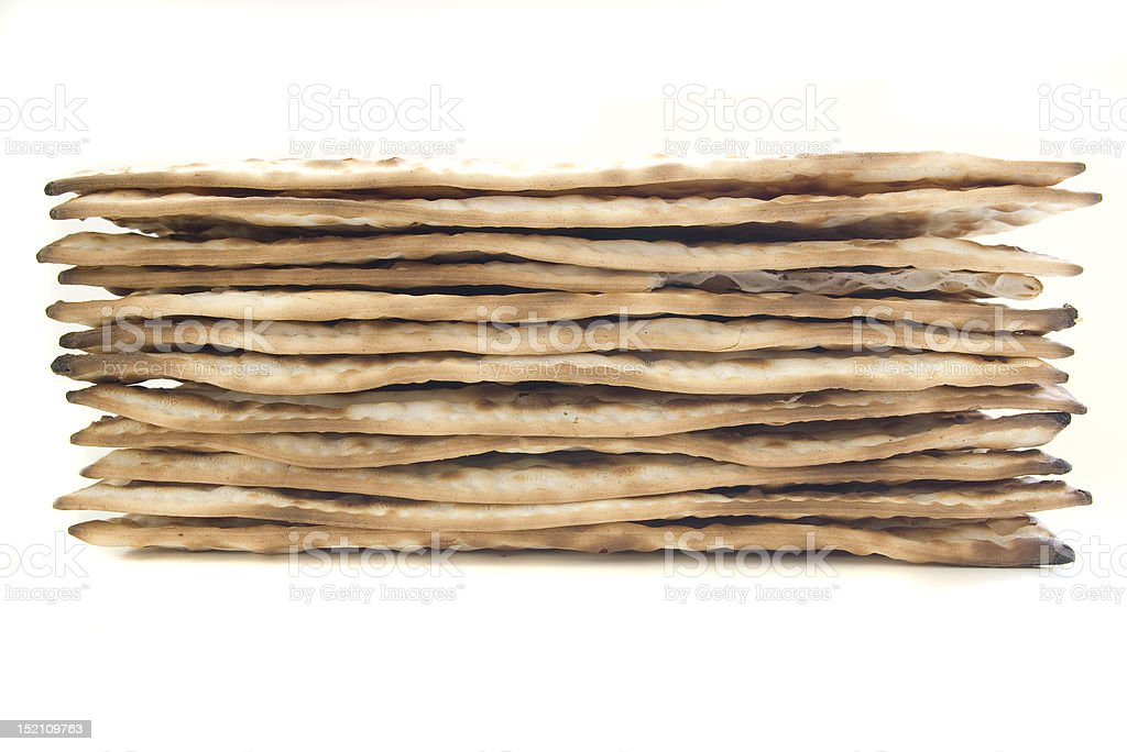 Matzah Stacked Up. stock photo