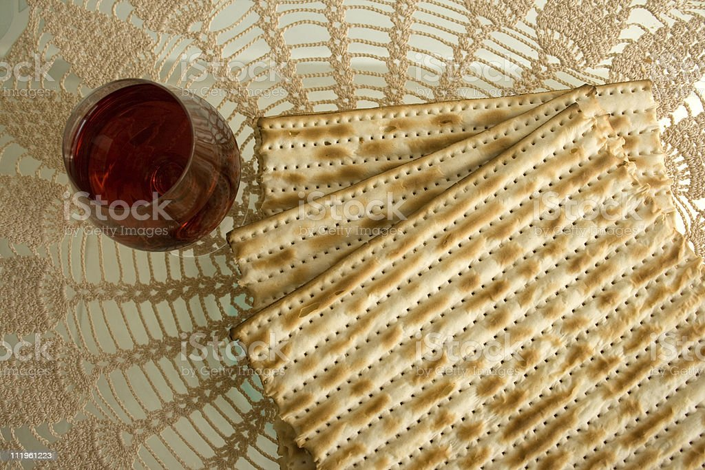 Matzo and wine - Royalty-free Celebration Stock Photo