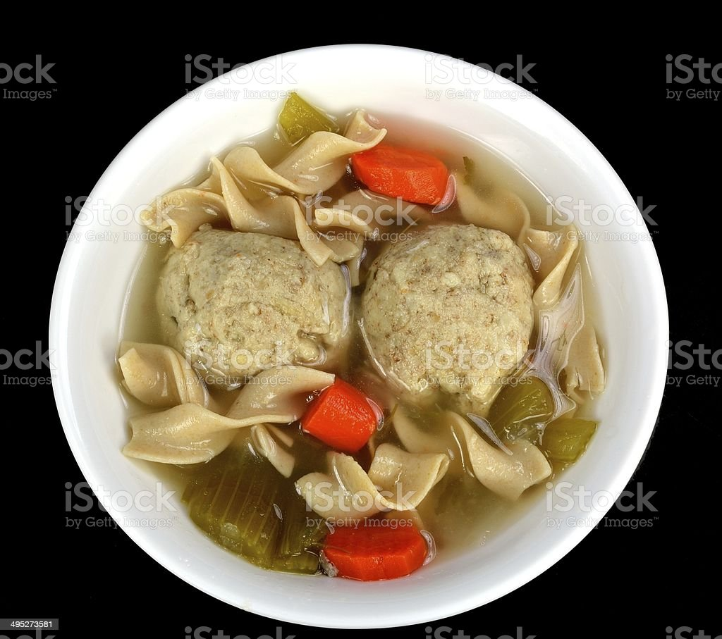 Matzo ball soup royalty-free stock photo