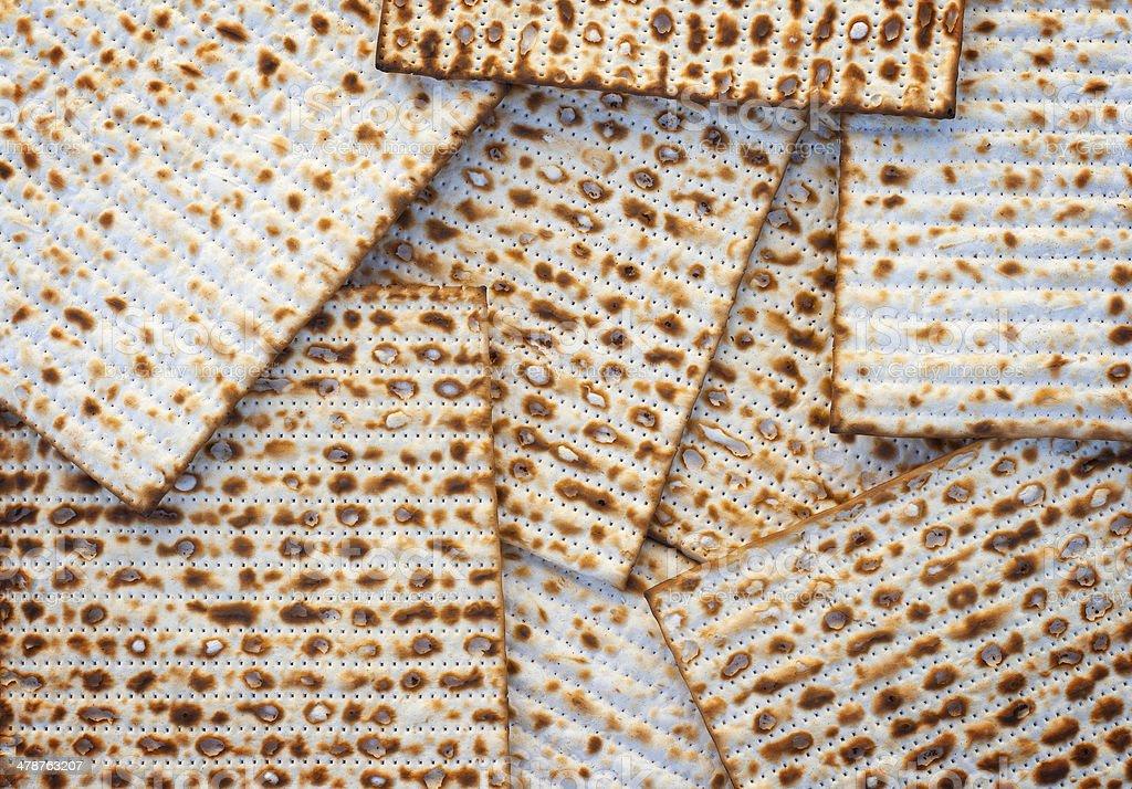 Matzo bread background stock photo