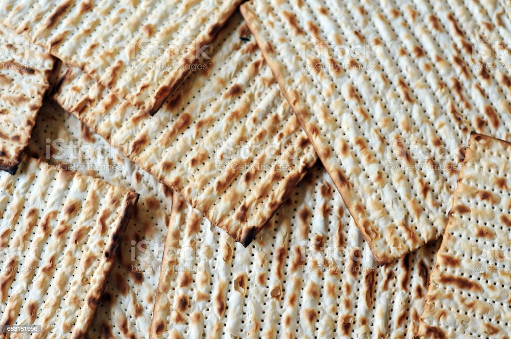 Matzo for Jewish Holiday Passover stock photo
