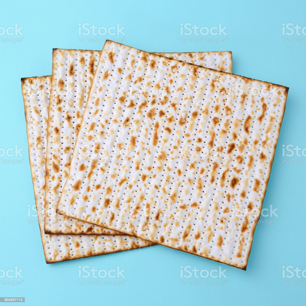Matzo for Passover celebration stock photo