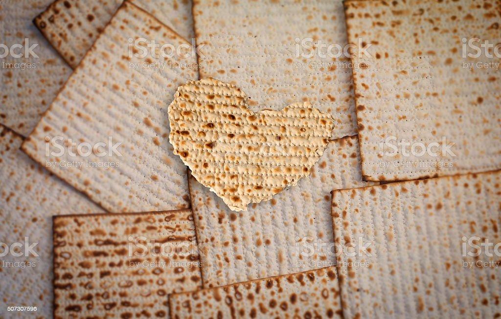 Matzo heart stock photo