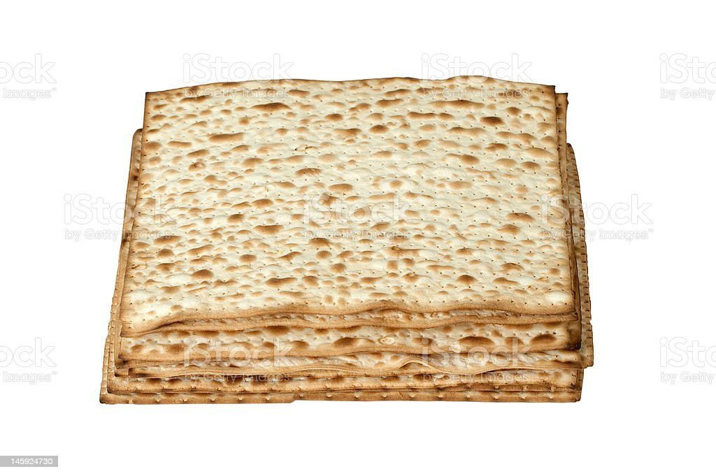 matzo. jewish passover bread isolated on white royalty-free stock photo