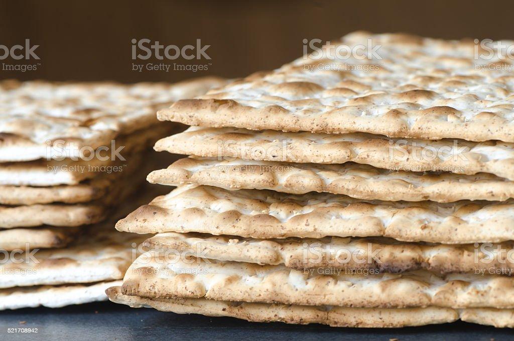 matzo Jewish Passover bread stock photo