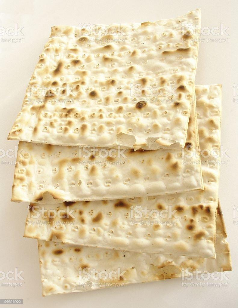 matzo - jewish passover bread stock photo