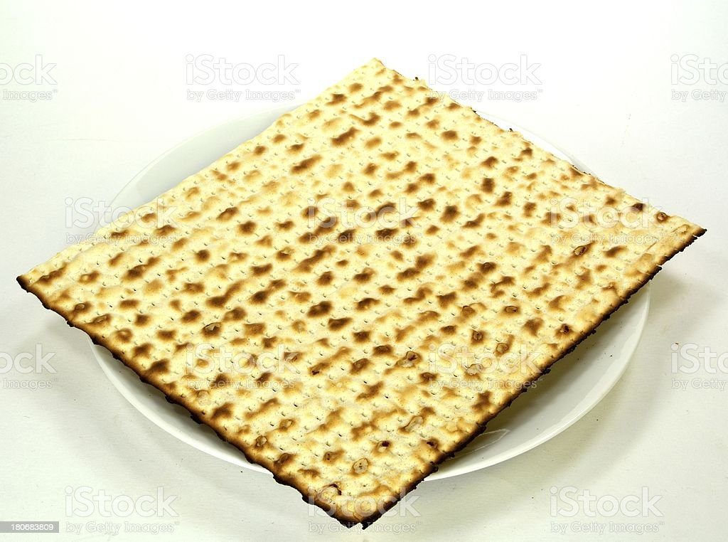 Matzo on a plate royalty-free stock photo