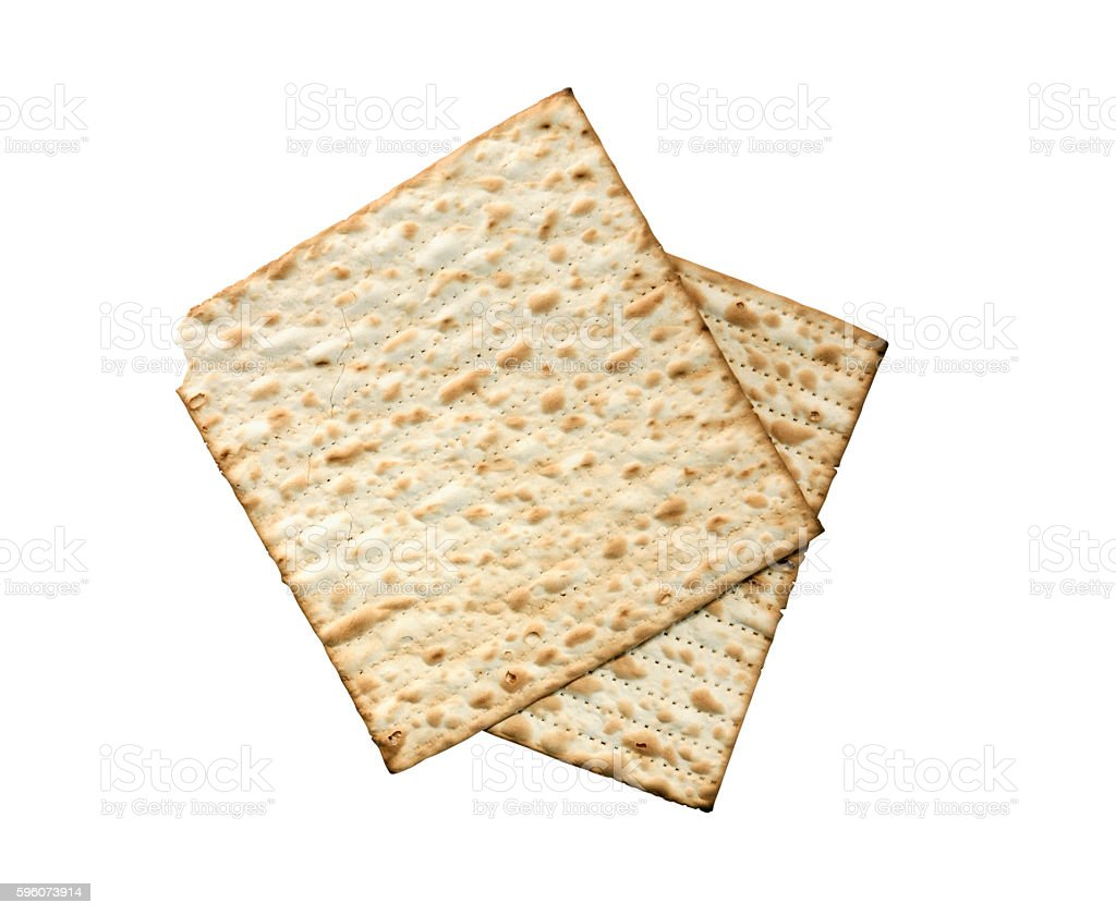 Matzoh Isolated On White stock photo