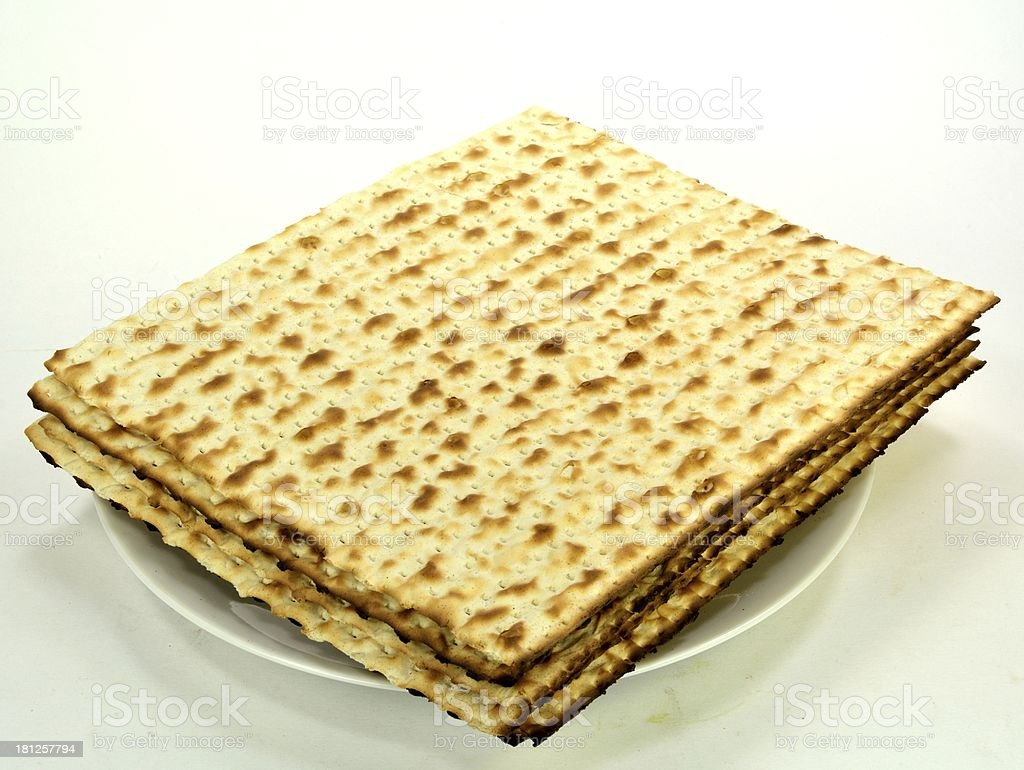 Matzos on a plate royalty-free stock photo