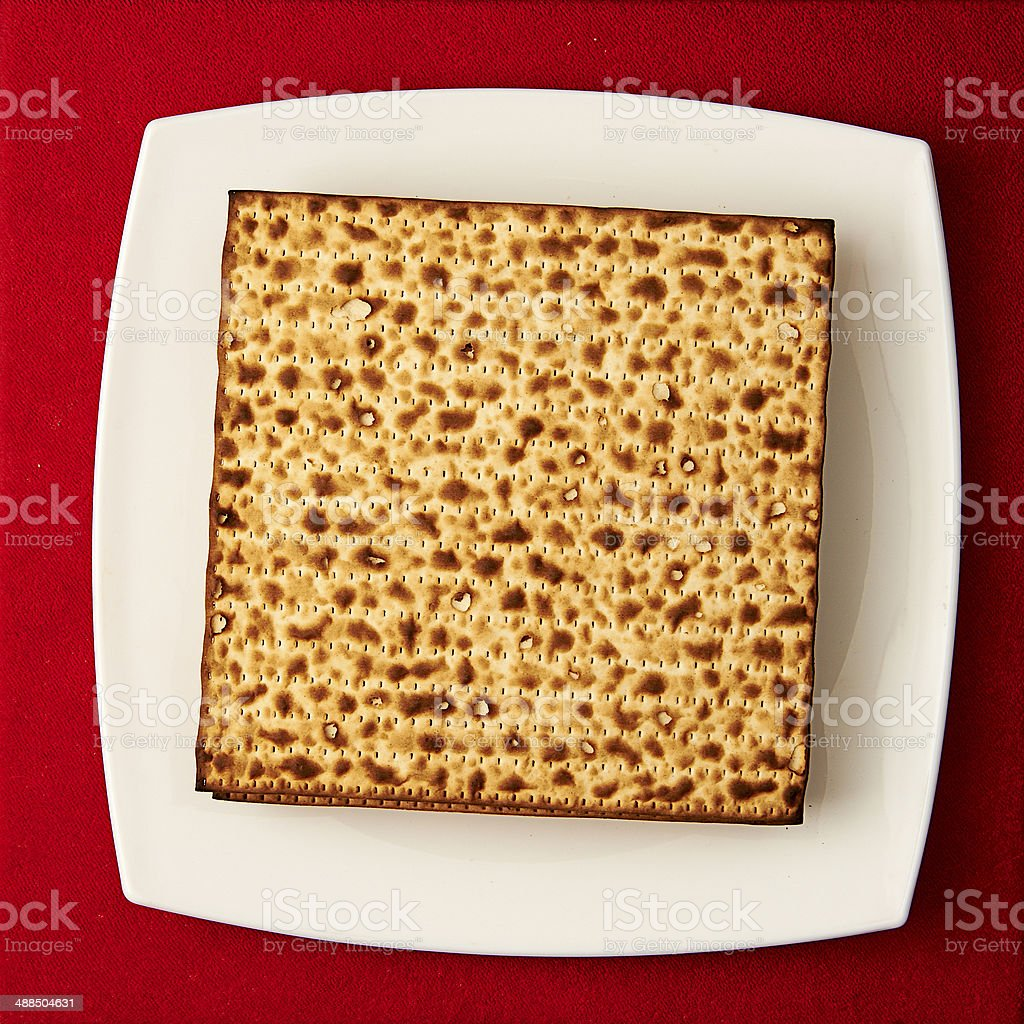 Matzos on the table royalty-free stock photo