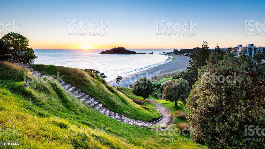 Mauao Sunrise stock photo