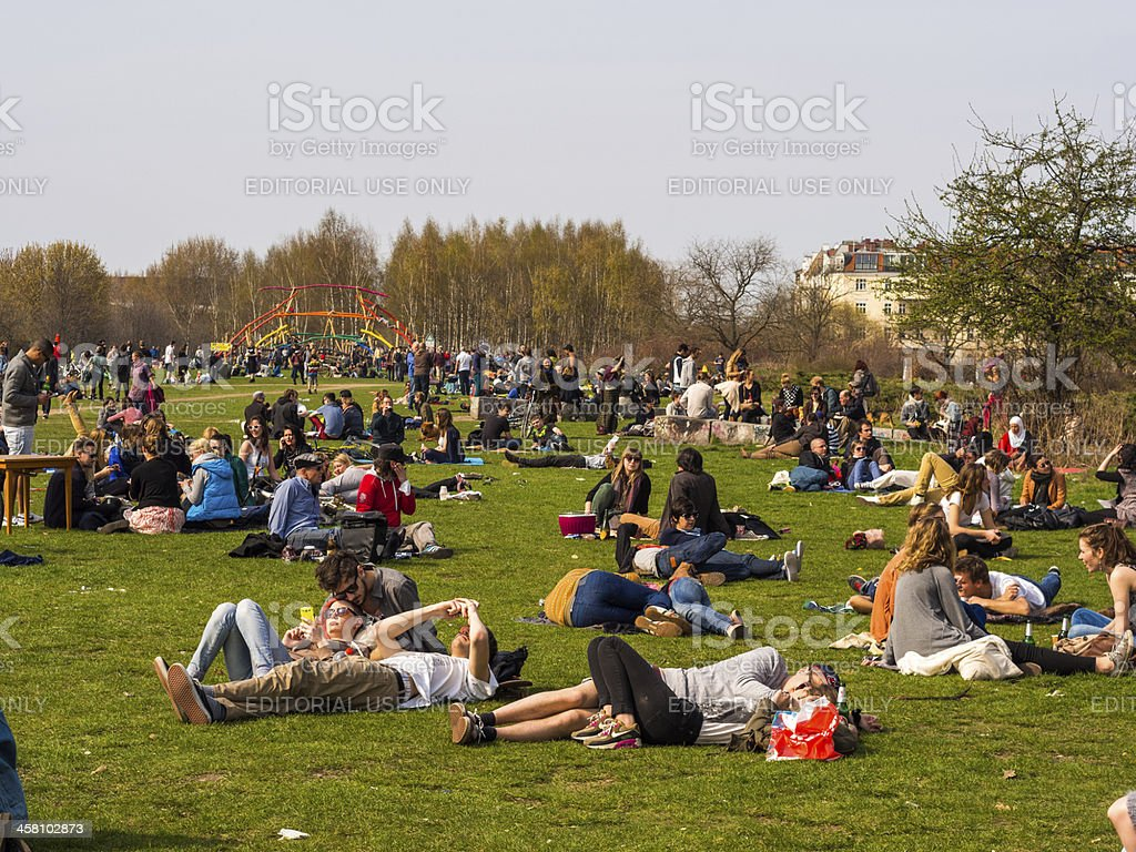 Mauerpark, Berlin, Germany royalty-free stock photo